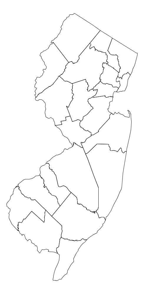Programming Assignment Purple America - Map of nj counties
