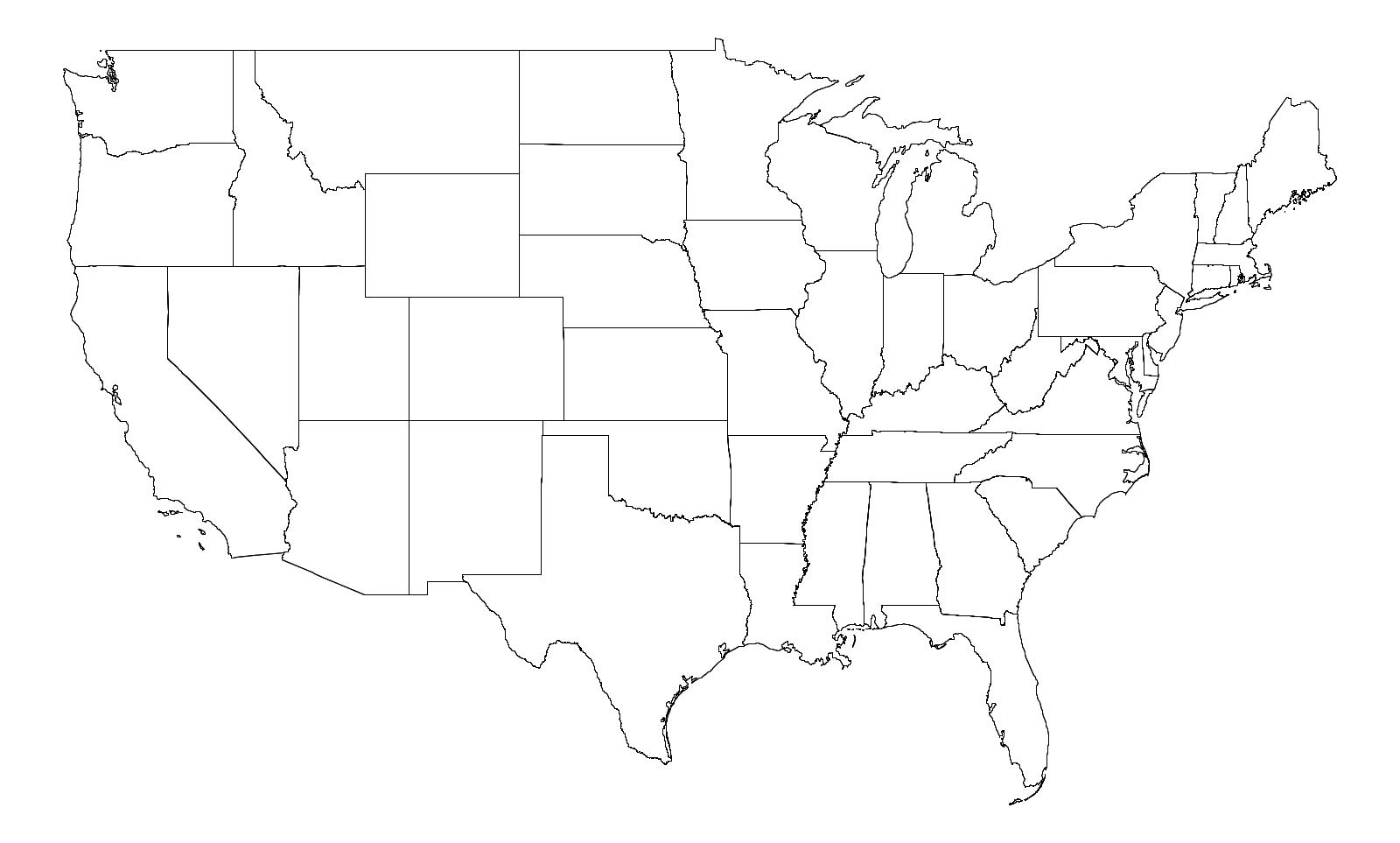 Programming Assignment Purple America - Us map mercator