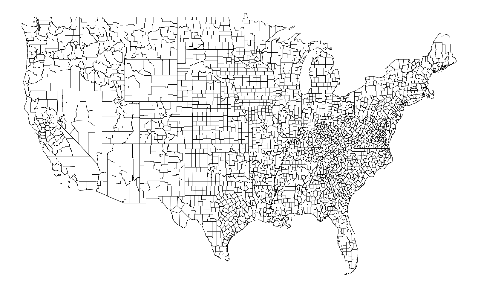 Programming Assignment Purple America - Us counties coordinates